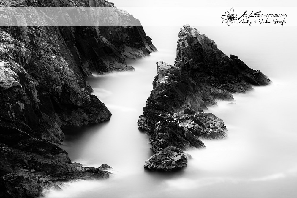 Black And White Landscape Photography Wales Wedding