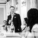 wedding photographer cardiff - grooms speech