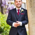 wedding photographer cardiff - elmore court groom