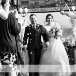 wedding photographer cardiff - elmore court confetti