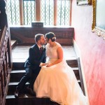 wedding photographer cardiff - elmore court staircase
