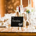 wedding photographer cardiff - elmore court table decoration