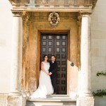 wedding photographer cardiff - elmore court doorway