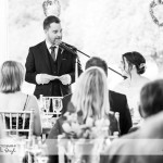 wedding photographer cardiff - elmore court groom speech
