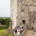 wedding photographer cardiff - roch castle wedding guests