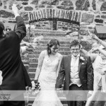 wedding photographer cardiff - roch castle confetti