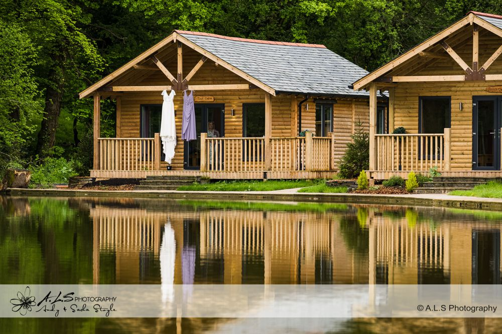 wedding photographer cardiff - canada lodge lake reflection