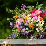 wedding photographer cardiff - canada lodge lake bouquet