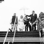 wedding photographer cardiff - canada lodge lake under umbrella