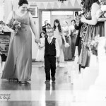 wedding photographer cardiff - canada lodge lake aisle