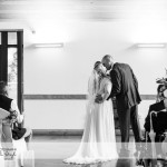 wedding photographer cardiff - canada lodge lake first kiss