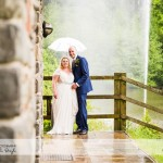wedding photographer cardiff - canada lodge lake in the rain