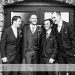 wedding photographer cardiff - canada lodge lake groomsmen