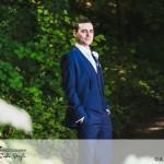 wedding photographer cardiff - oxwich bay hotel groom